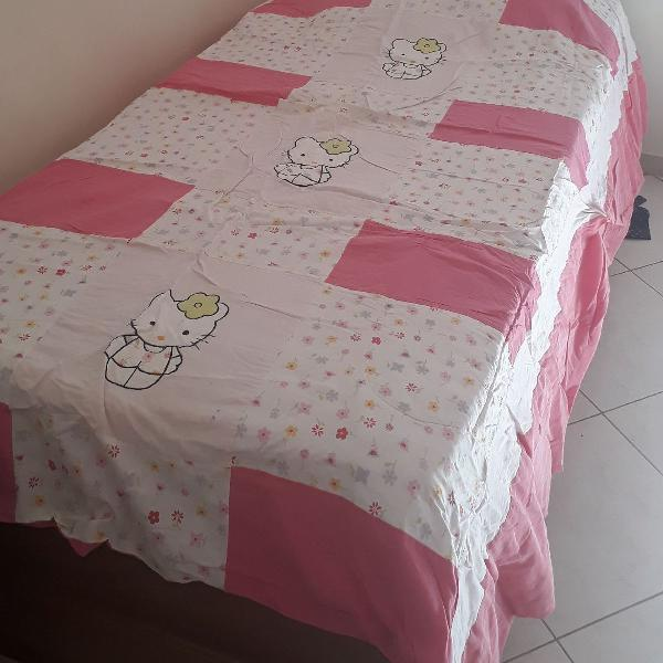 Colcha edredom hello kitty pink