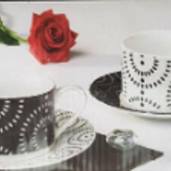Conjunto de 6 xícaras de chá - casambiente