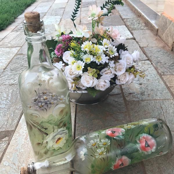Garrafa de vidro decorativas
