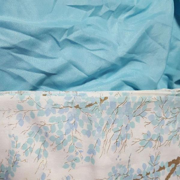 Jogo lençol casal azul 2 peças