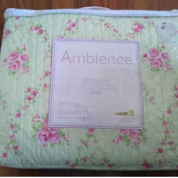 Kit colcha casal ambience charme