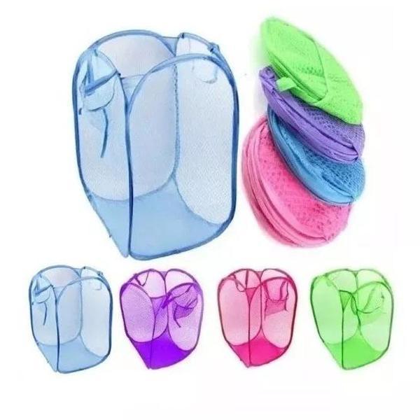 Kit com 5 cestos de roupa suja/organizador de brinquedos
