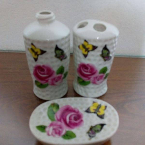Kit para banheiro vintage