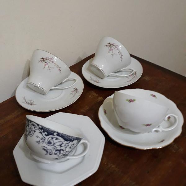 kit xícaras de chá