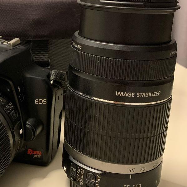 Lente cânon 55-250mm f/4-5.6