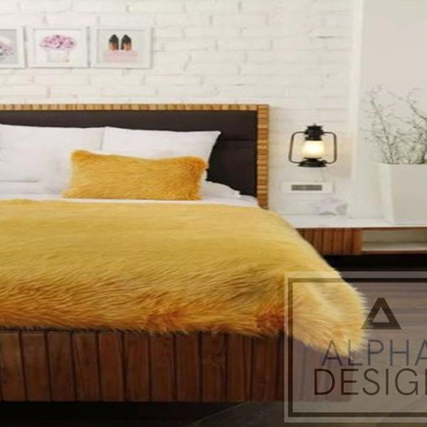 Manta peseira para cama casal box pelúcia alta luxo