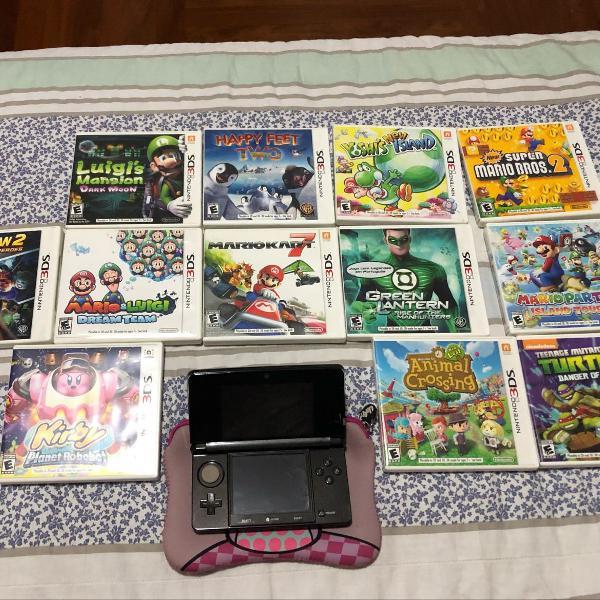 Nintendo 3ds original, impecável com 12 jogos originais