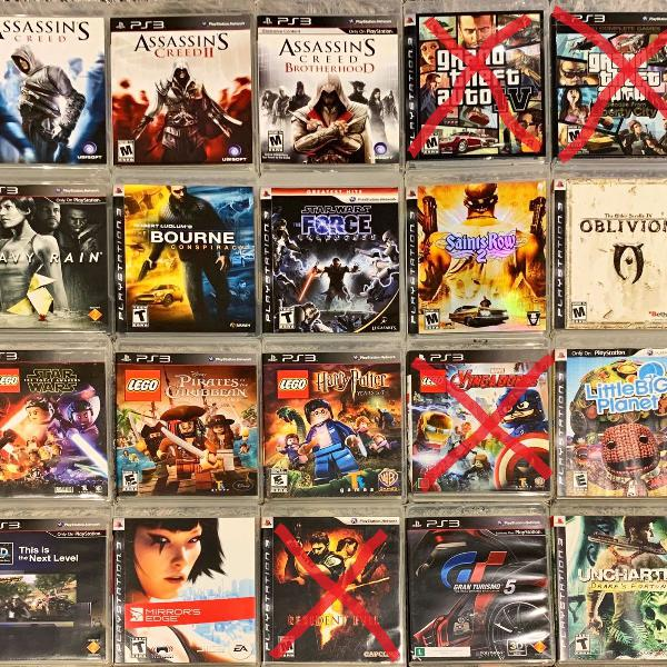 Pacote 4 jogos playstation 3 ps3 midia fisica original