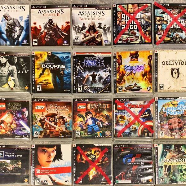 Pacote 6 jogos playstation 3 ps3 midia fisica original