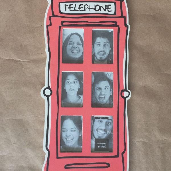 Porta retrato cabine telefônica