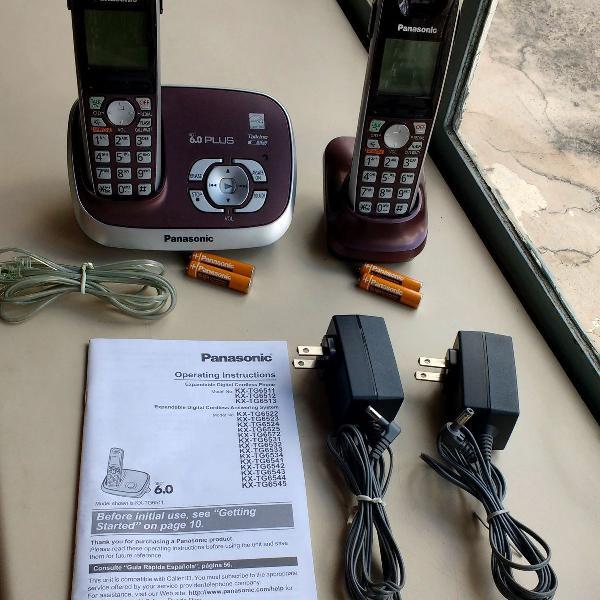 Telefone s/fio digital panasonic 6.0 plus secr. eletr. e