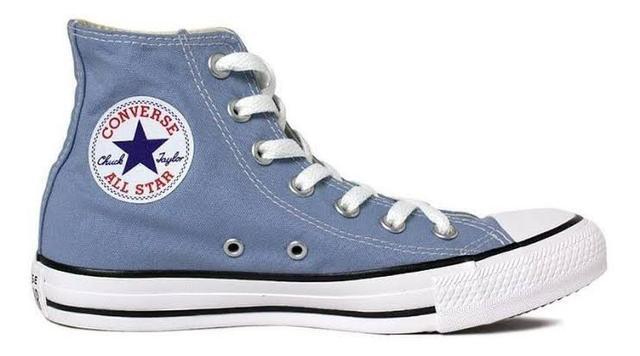 All star azul cano alto original (novo)