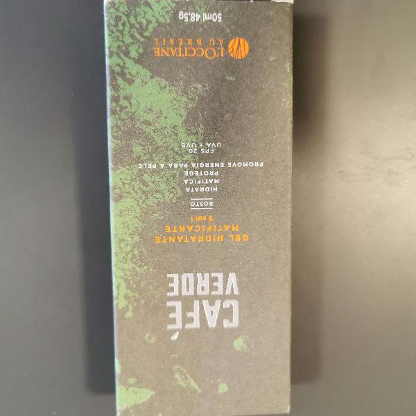 Café verde - gel hidratante