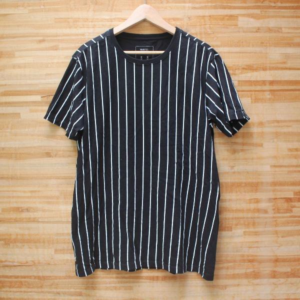 Camiseta listras long fit
