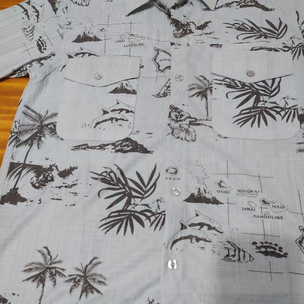 Camiseta manga curta novo (estampa tropical)