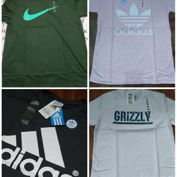 Camisetas masculinas diversos modelos