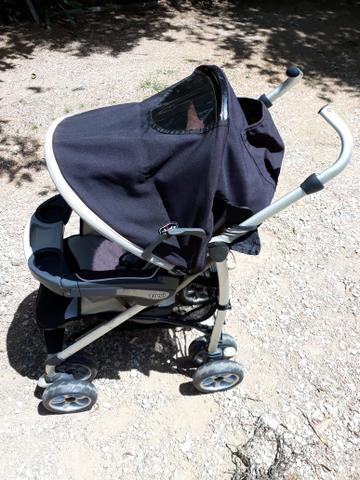 Carrinho de bebê, chicco trevi, reclinável e dobrável