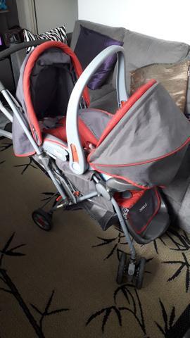 Carrinho e bebê conforto travel system reverse vermelho -
