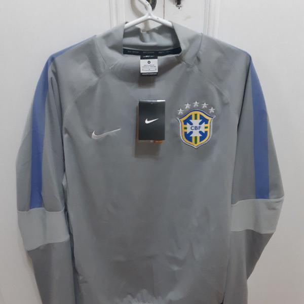 Casaco impermeável nike seleção brasileira - oficial