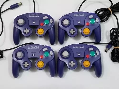 Controle original nintendo gamecube azul.