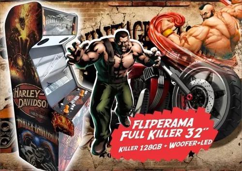 Fliperama 32 23000 jogos killer + subwoofer + led malvadeza