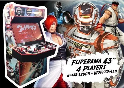 Fliperama 43 23000 jogos killer + led + subwoofer malvadeza