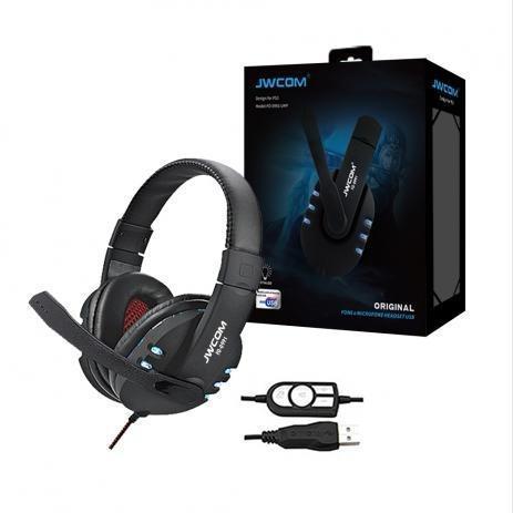 Fone headset gamer usb c/ mic pc ps3 ps4 led rgb jwcom