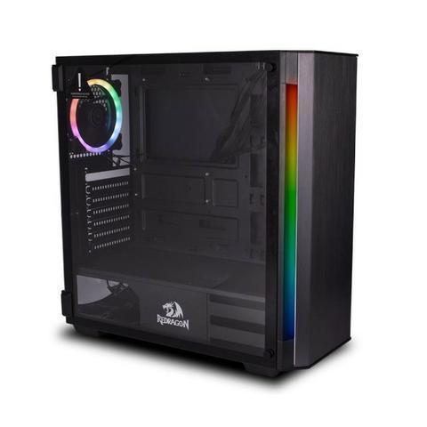 Gabinete redragon nosecone preto - loja fgtec informática