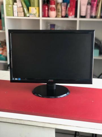 Monitor led 20 polegadas aoc para computador/pc/dvr