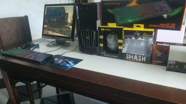Pc gamer rodando jogos pesados completo pra levar