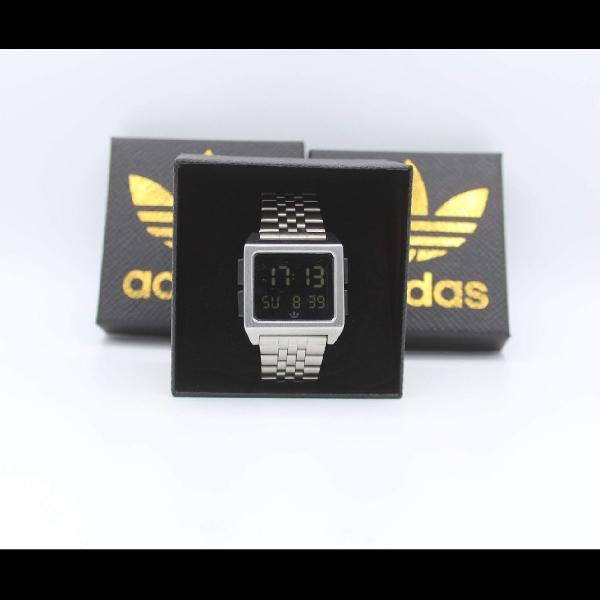 Relógio adidas archive m1 (prata, dourado, rose e chumbo)