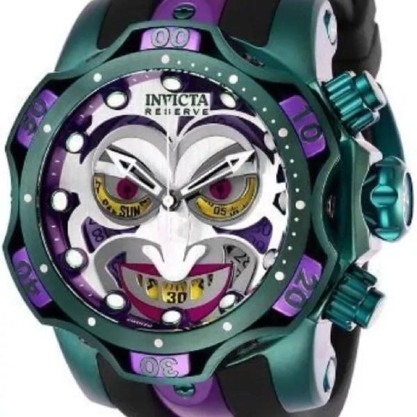 Relógio dc comics jokers coringa invicta linha premium top