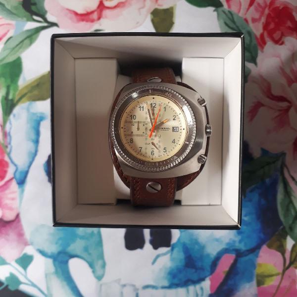 Relógio diesel genuine leather
