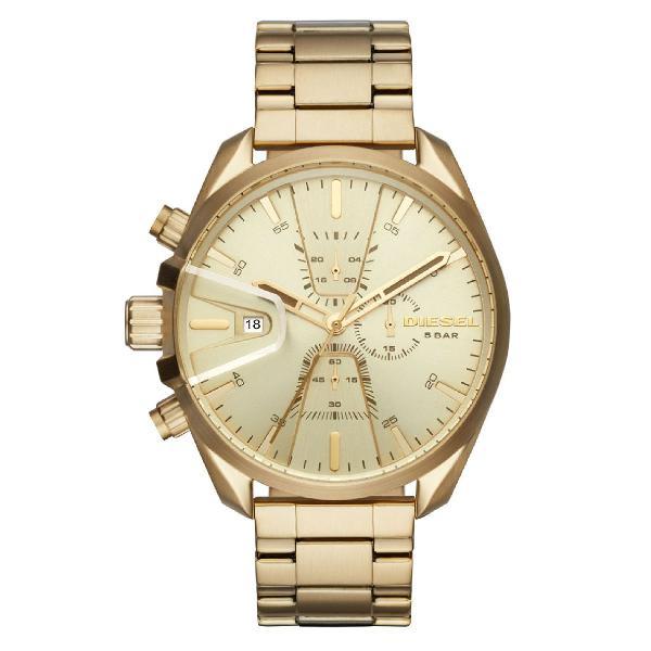Relógio diesel masculino stand out ms9 chrono dourado -
