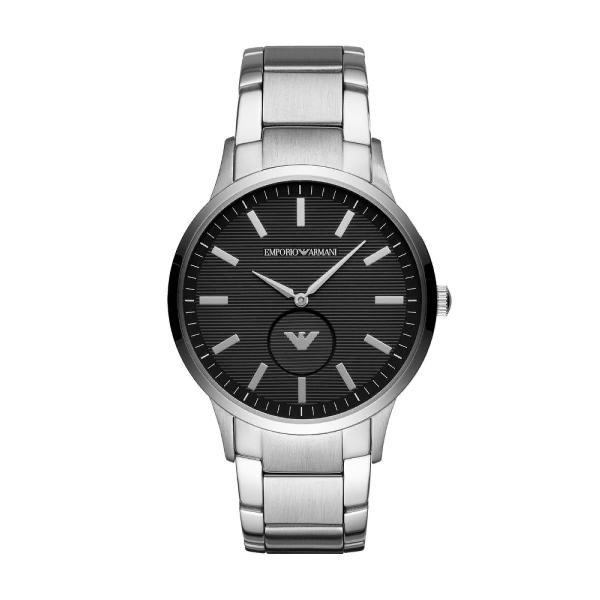 Relógio empório armani masculino classic renato prata -