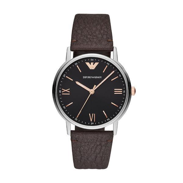 Relógio empório armani masculino kappa prata ar11153/0mn