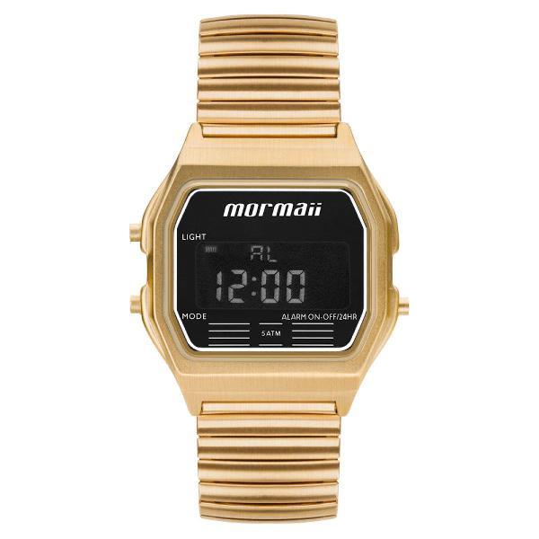 Relógio mormaii unissex vintage preto mojh02au/4d