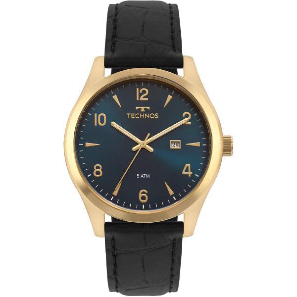 Relógio technos masculino steel dourado 2115mrx/2a