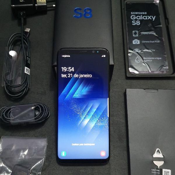 Samsung galaxy s8 preto 64gb usado