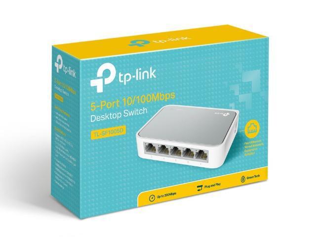 Switch de rede 5 portas tp-link 10/100 switch de rede