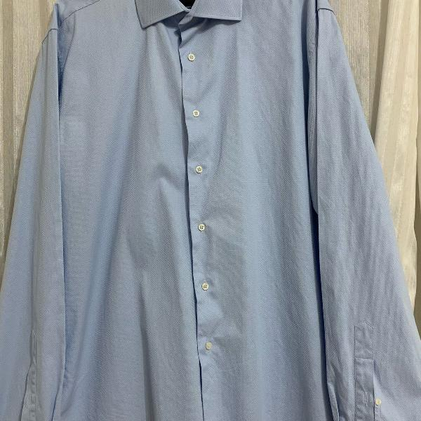 Camisa azul claro lindo tecido brooksfield tam 42