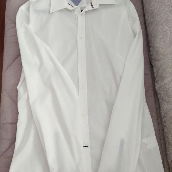 Camisa de manga comprida da tommy hilfiger