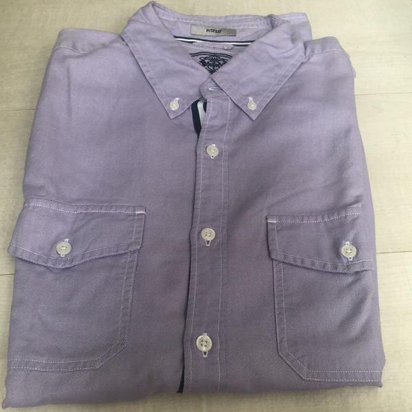 Camisa esporte masculina lilás express tam m