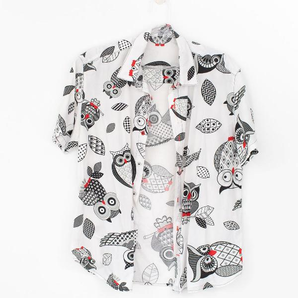 Camisa exclusiva estampa coruja