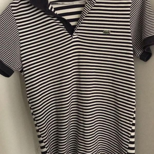 camisa listrada polo da lacoste original
