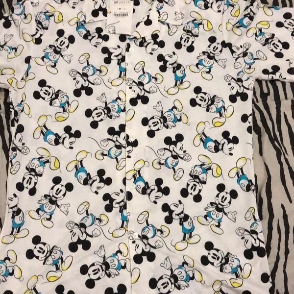 Camisa manga curta estampa mickey mouse zara