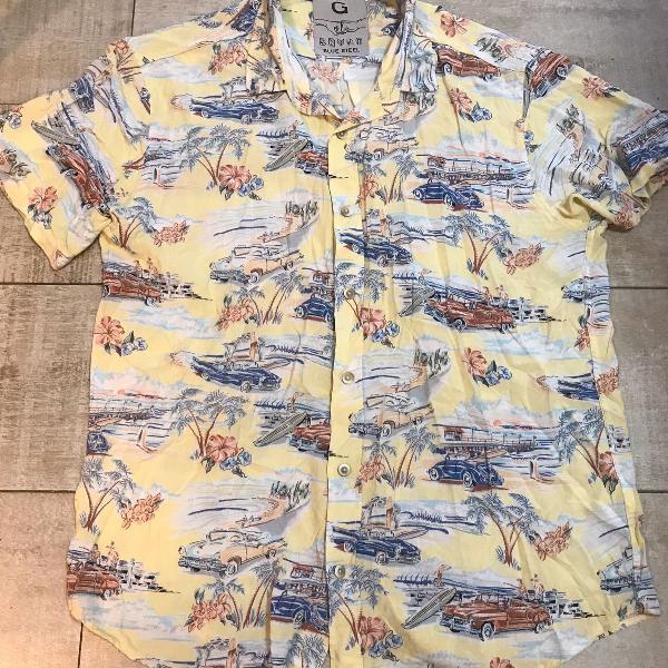 Camisa masculina estampada carros antigos