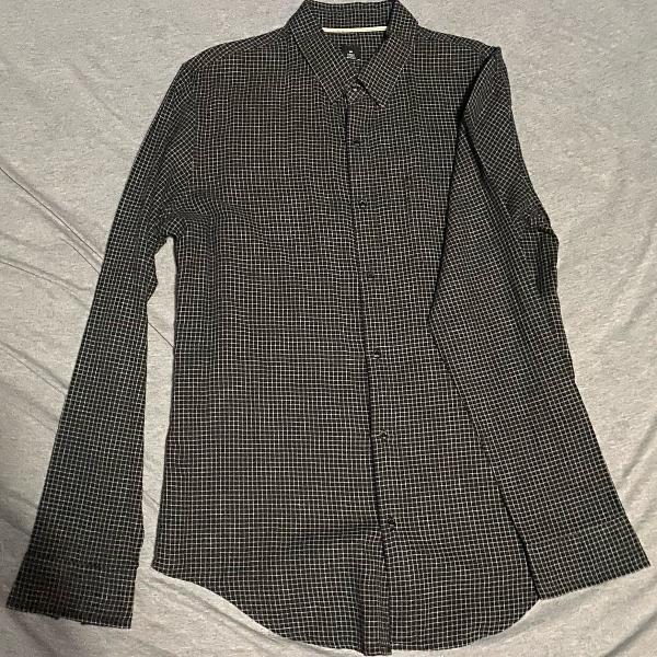 Camisa osklen - quadriculada fibras nobres 70% algodão 30%