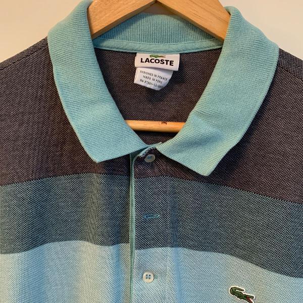 Camisa polo azul lacoste