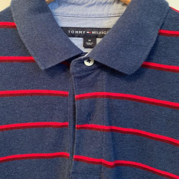 Camisa polo azul tommy